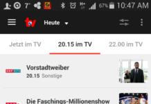 Fernsehprogramm per Klick auf dem Handy