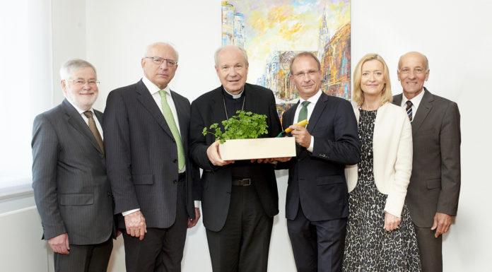 Nachhaltigkeitsfrühstück der Hagelversicherung - im Bild v. l. August Astl (LKÖ-Generalsekretär)