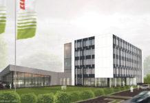 Entwurf des zukünftigen Gebäudes der Claas E-Systems in Dissen