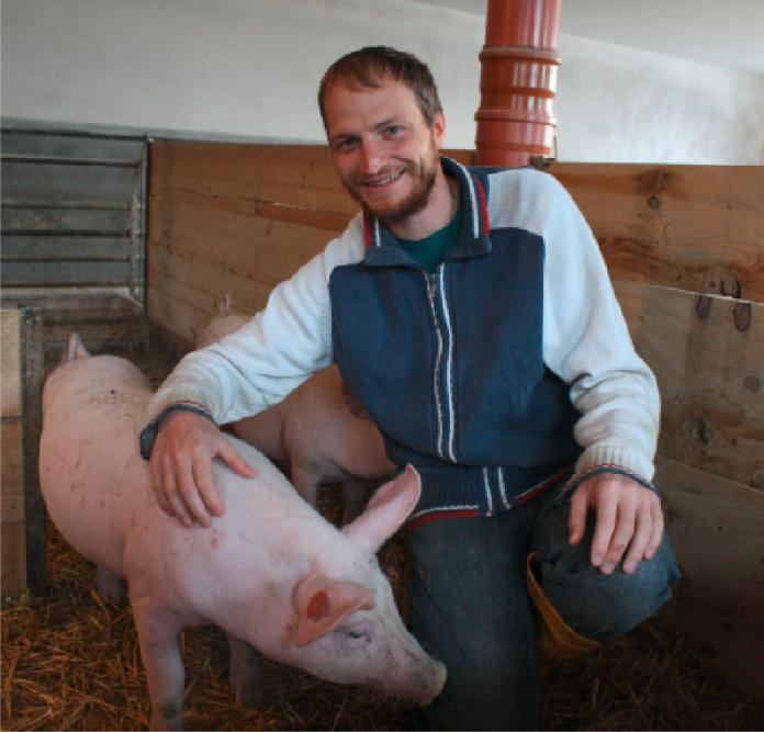 Christian Winter beschreitet seit zwei Jahren einen innovativen Weg der Schweinehaltung.